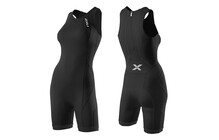 2XU Comp Trisuit Triathlon Kleding Dames W/ Rear Zip zwart